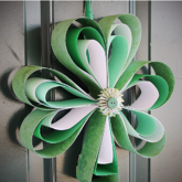 The Craft Patch Blog Paper Shamrock Wreath